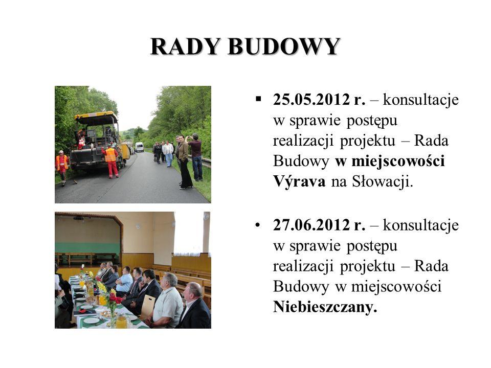 """ODBIÓR KOŃCOWY ZADANIA """"Rozwój infrastruktury drogowej pomiędzy powiatami Medzilaborce - Humenne - Snina - Sanok"""