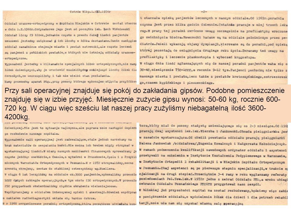 Dr Mirosław Falis - ordynator Oddziału Ortopedii i Traumatologii Narządu Ruchu W listopadzie 2011 w drodze konkursu został wyłoniony ordynator dr n.