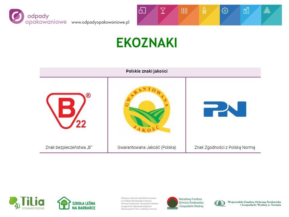 Oznaczenia ekologiczne dotyczące postępowania z opakowaniem lub produktem