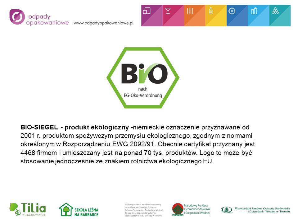 BIO-SIEGEL - produkt ekologiczny -niemieckie oznaczenie przyznawane od 2001 r.