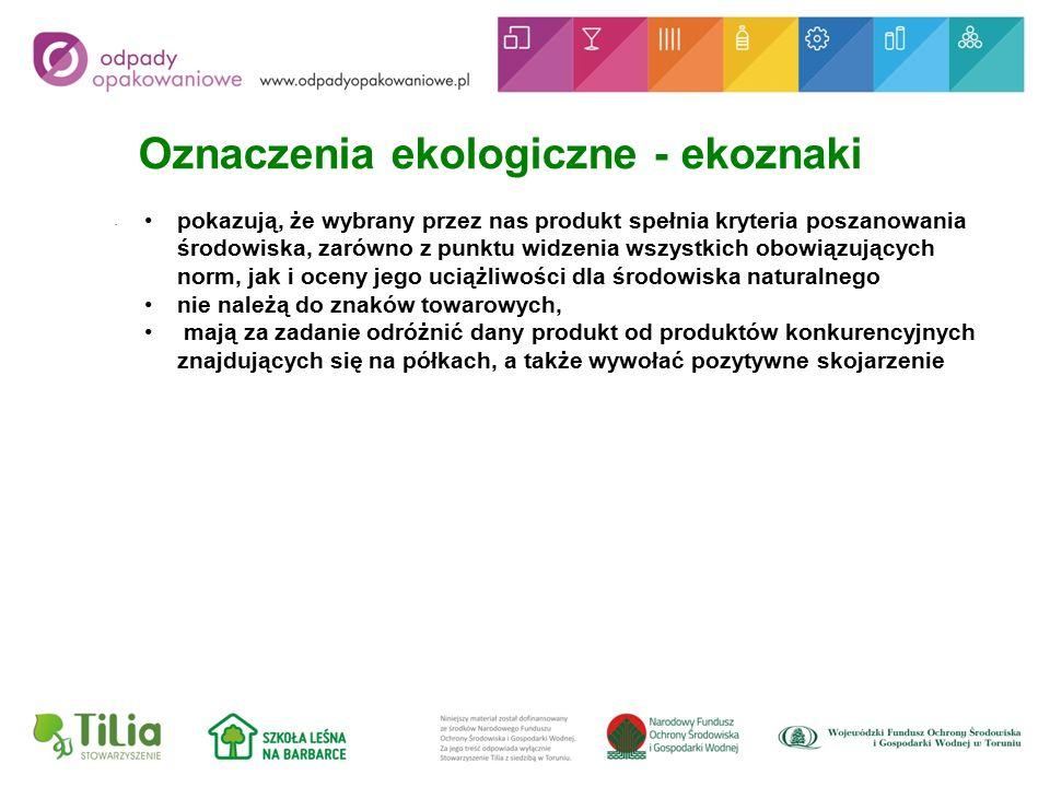 Oznaczenia ekologiczne - ekoznaki.