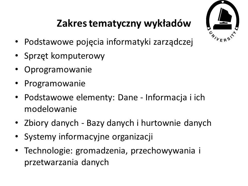 Podstawy informatyki zarządczej infrastruktura zarządzania Jerzy Kisielnicki jkisielnicki@wz.uw.edu.pl Opracowanie: materiały własne i źródła internet
