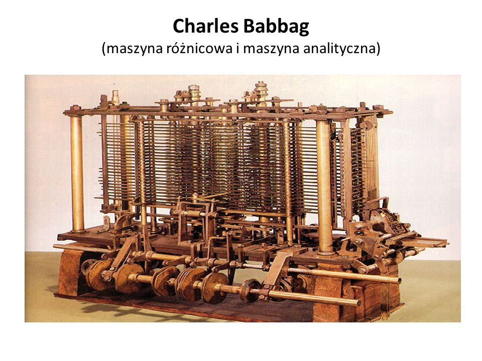"""Podstawy teoretyczne budowy komputera Alan Turing """"O liczbach obliczalnych - pierwszy teoretyczny model komputera, czyli abstrakcyjna maszyna, która była w stanie wykonywać zaprogramowaną matematyczną operację."""
