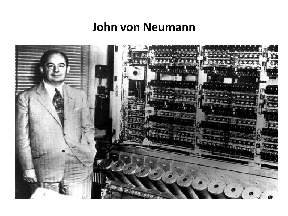 Podstawy teoretyczne budowy komputera c.d. John von Neumann, stworzył koncepcję opierającą się na następujących założeniach: skończonej i funkcjonalni