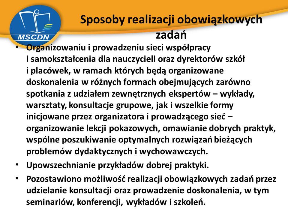 Projekty realizowane w MSCDN rok 2012/2013  Mazowieckie Centra Talentu i Kariery (2010 r.