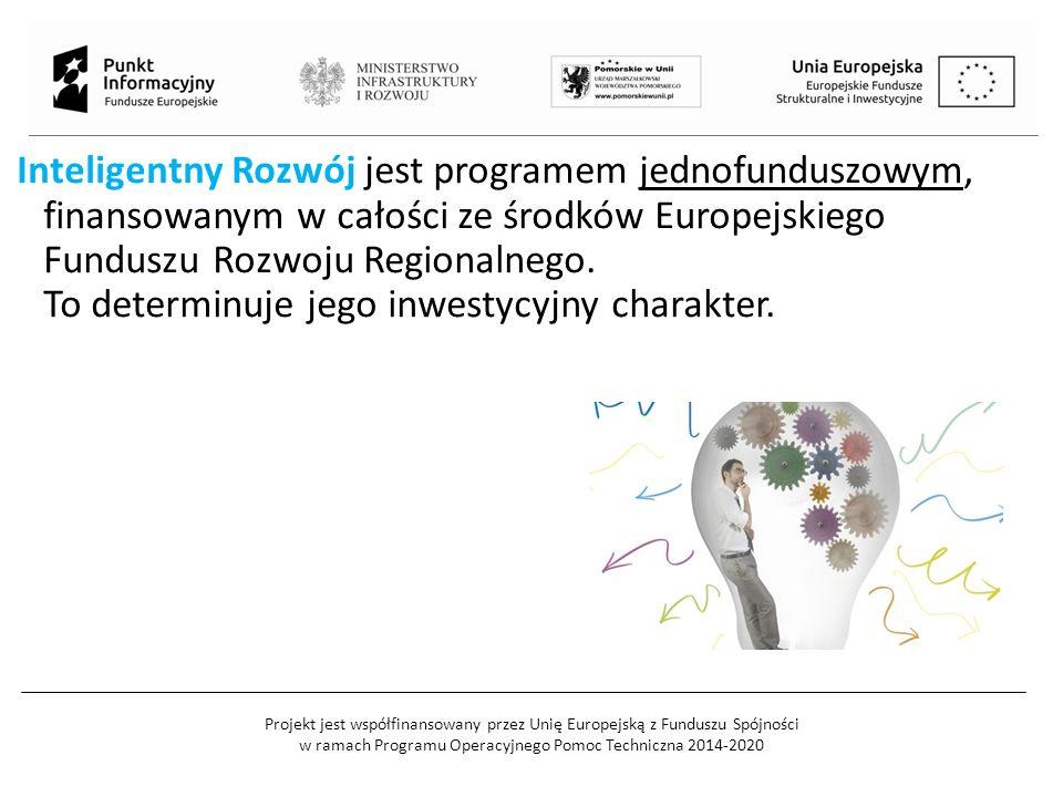 Projekt jest współfinansowany przez Unię Europejską z Funduszu Spójności w ramach Programu Operacyjnego Pomoc Techniczna 2014-2020 Inteligentny Rozwój jest programem jednofunduszowym, finansowanym w całości ze środków Europejskiego Funduszu Rozwoju Regionalnego.
