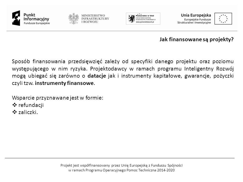 Projekt jest współfinansowany przez Unię Europejską z Funduszu Spójności w ramach Programu Operacyjnego Pomoc Techniczna 2014-2020 Jak finansowane są
