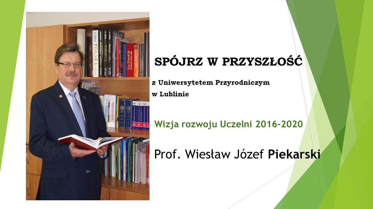 Wizja rozwoju Uczelni 2016-2020 Prof.