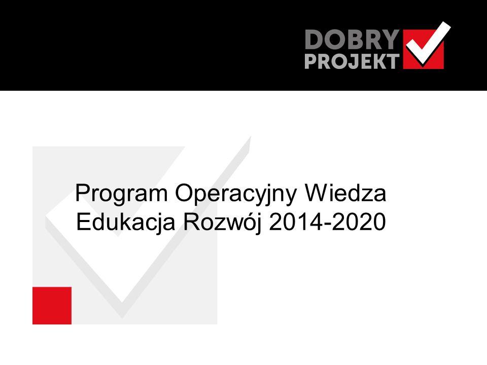 Program Operacyjny Wiedza Edukacja Rozwój 2014-2020