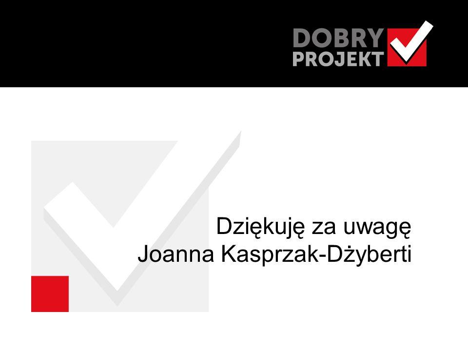 Dziękuję za uwagę Joanna Kasprzak-Dżyberti