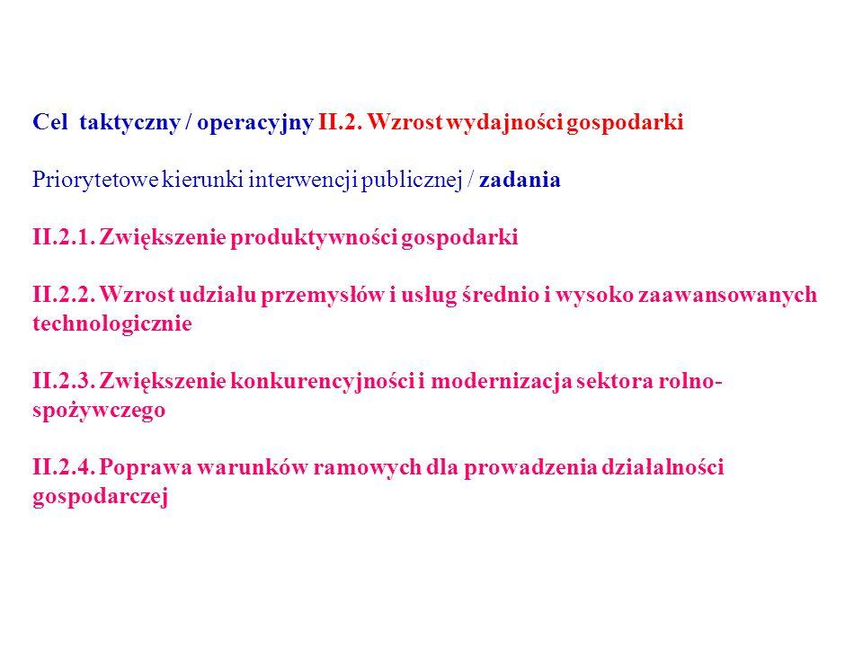 Cel taktyczny / operacyjny II.2.