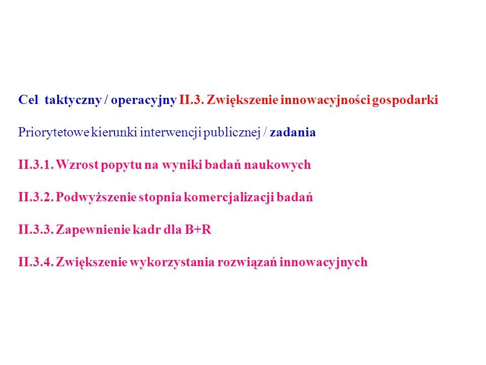 Cel taktyczny / operacyjny II.3.
