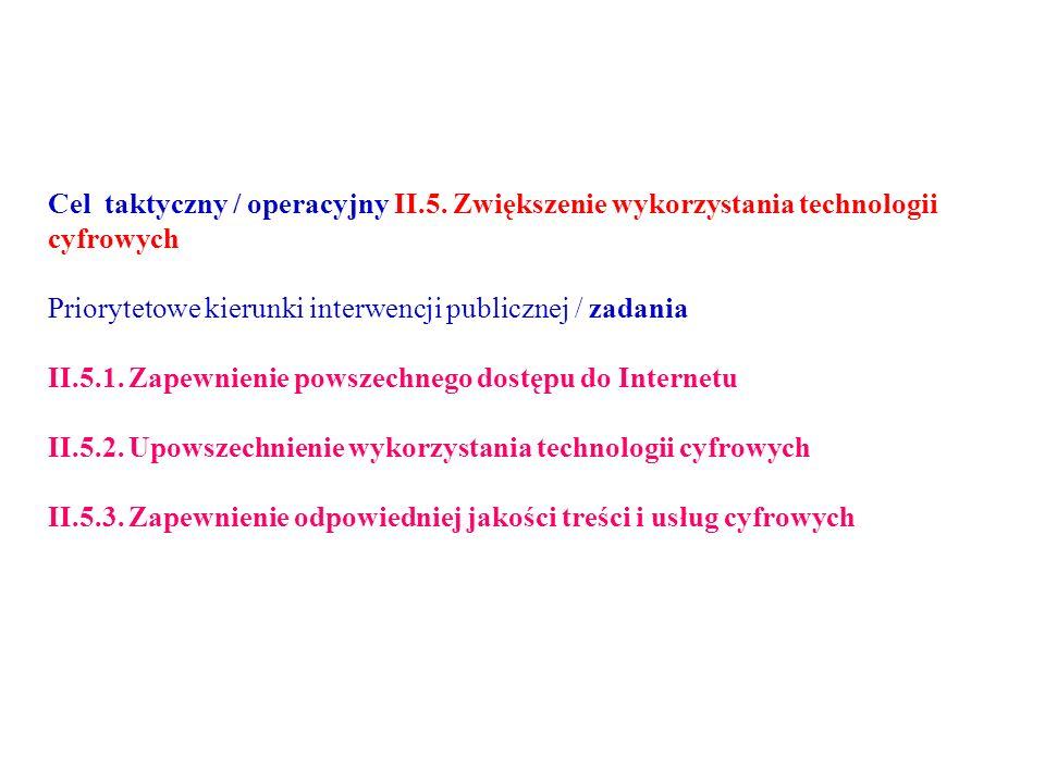 Cel taktyczny / operacyjny II.5.
