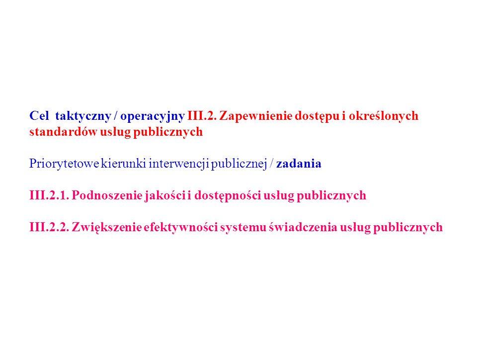 Cel taktyczny / operacyjny III.2.