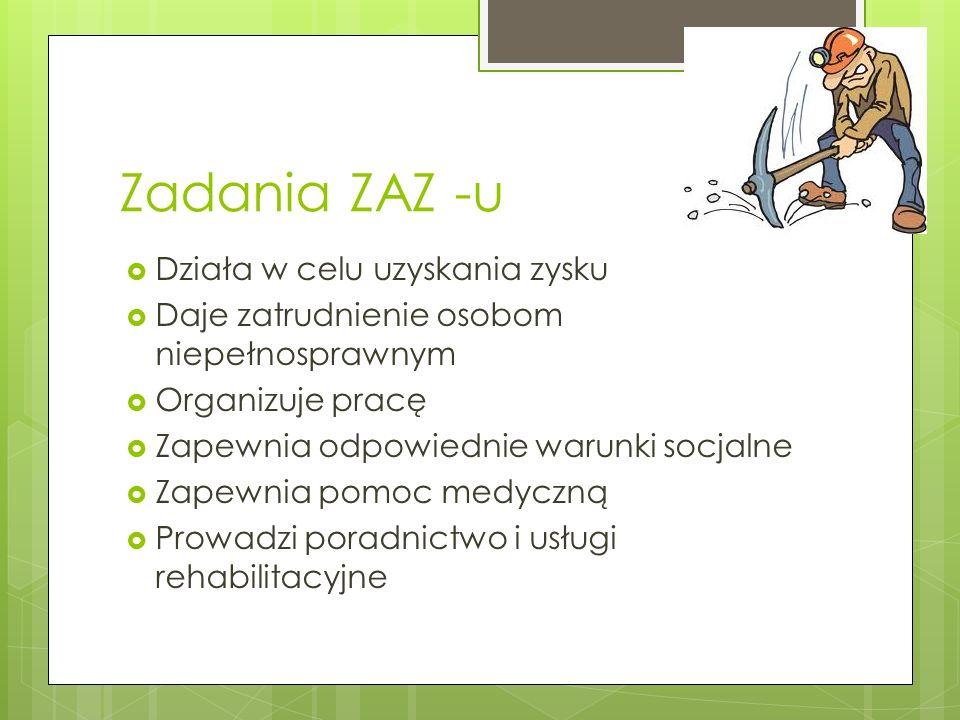 Ile można otrzymać funduszy na utworzenie ZAZ-u .
