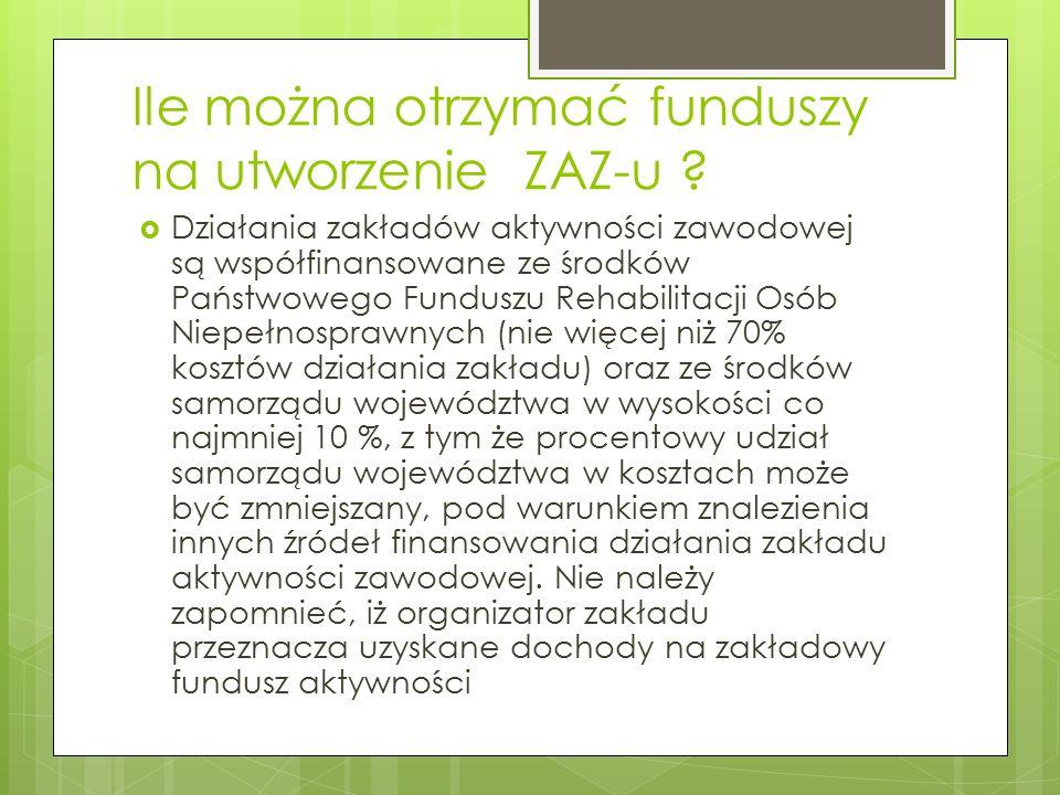 Skąd pochodzą środki na działalność ZAZ- u .