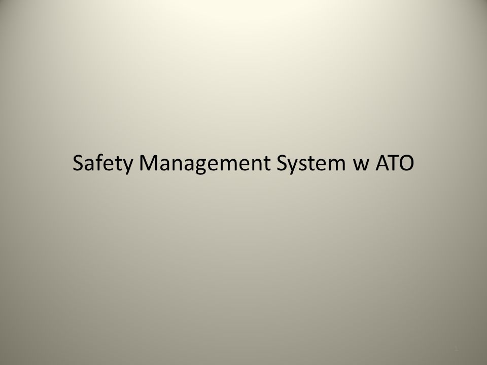 1 Safety Management System w ATO