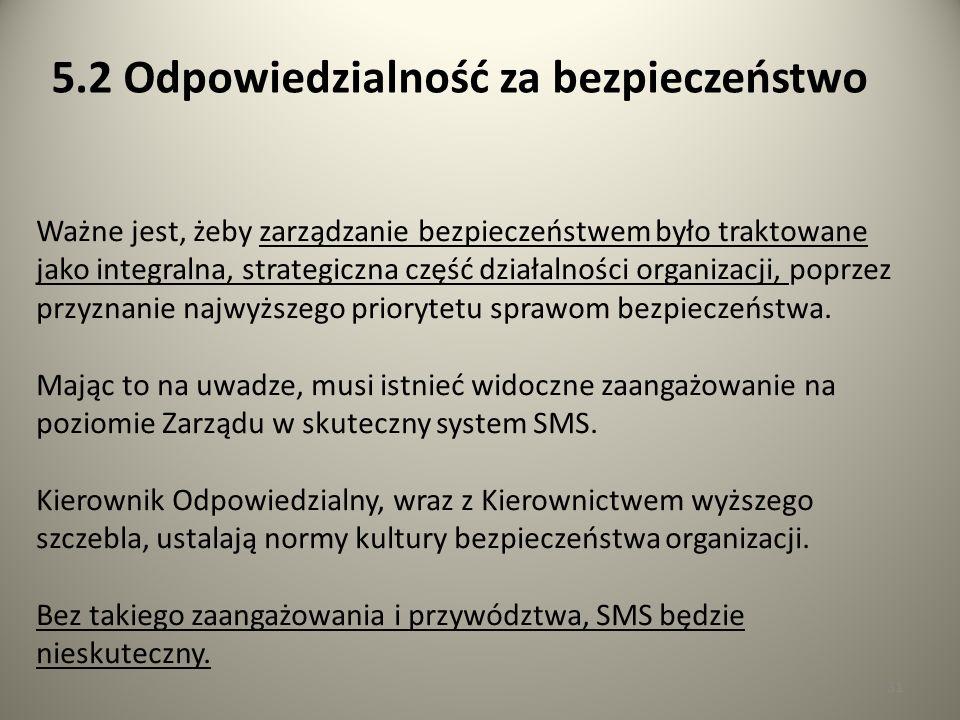 31 Ważne jest, żeby zarządzanie bezpieczeństwem było traktowane jako integralna, strategiczna część działalności organizacji, poprzez przyznanie najwy