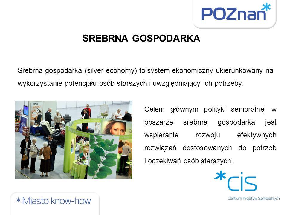 SREBRNA GOSPODARKA Srebrna gospodarka (silver economy) to system ekonomiczny ukierunkowany na wykorzystanie potencjału osób starszych i uwzględniający ich potrzeby.