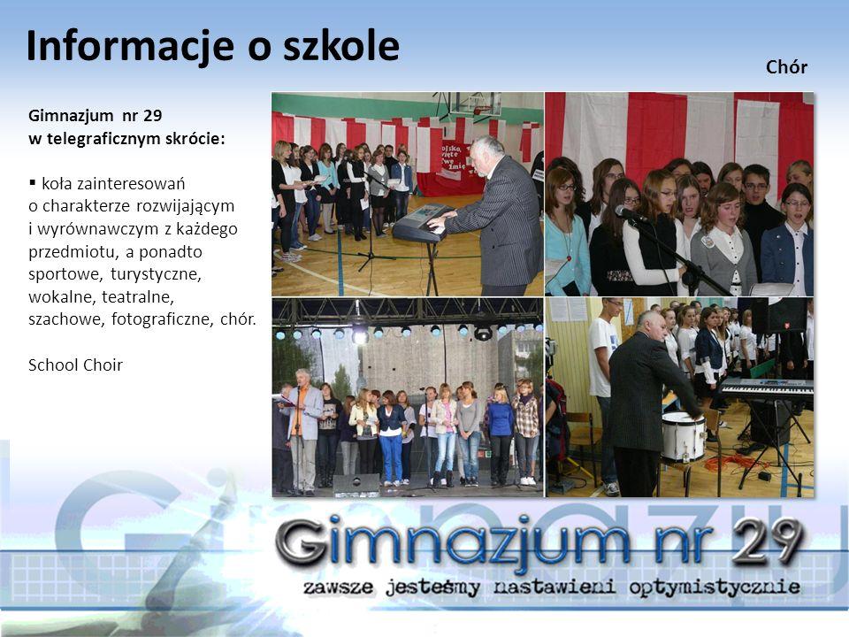 Informacje o szkole Gimnazjum nr 29 w telegraficznym skrócie:  uczniowie z naszego gimnazjum opracowali przedstawienie w ramach projektu edukacyjnego.