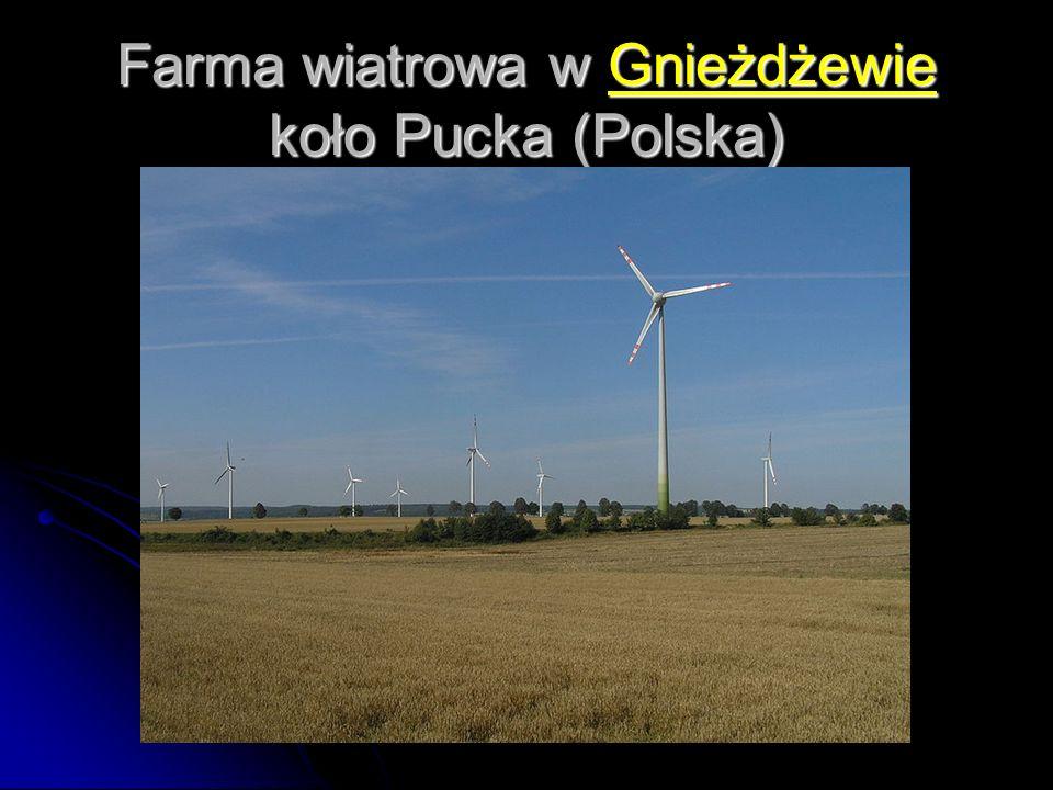 Farma wiatrowa w Gnieżdżewie koło Pucka (Polska)