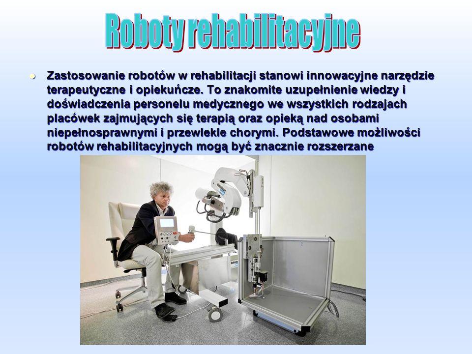 Zastosowanie robotów w rehabilitacji stanowi innowacyjne narzędzie terapeutyczne i opiekuńcze.
