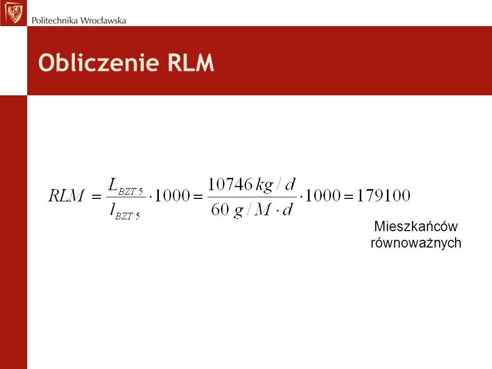 Obliczenie RLM Mieszkańców równoważnych