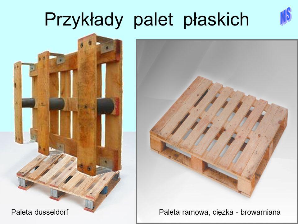 Przykłady palet płaskich Paleta dusseldorfPaleta ramowa, ciężka - browarniana