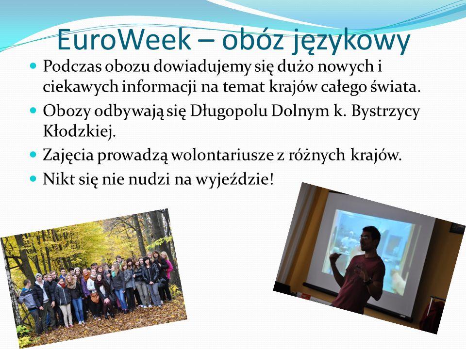 EuroWeek – obóz językowy Podczas obozu dowiadujemy się dużo nowych i ciekawych informacji na temat krajów całego świata.