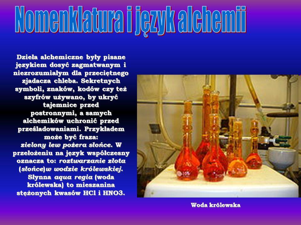 Dzieła alchemiczne były pisane językiem dosyć zagmatwanym i niezrozumiałym dla przeciętnego zjadacza chleba. Sekretnych symboli, znaków, kodów czy też