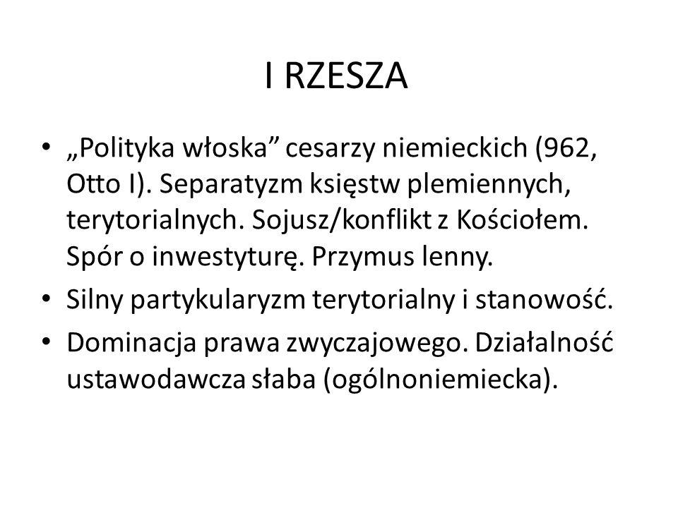 """I RZESZA """"Polityka włoska cesarzy niemieckich (962, Otto I)."""