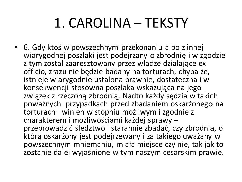 1. CAROLINA – TEKSTY 6.