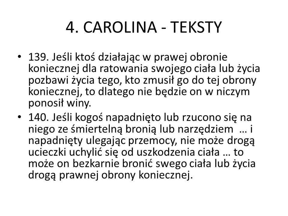 4. CAROLINA - TEKSTY 139.
