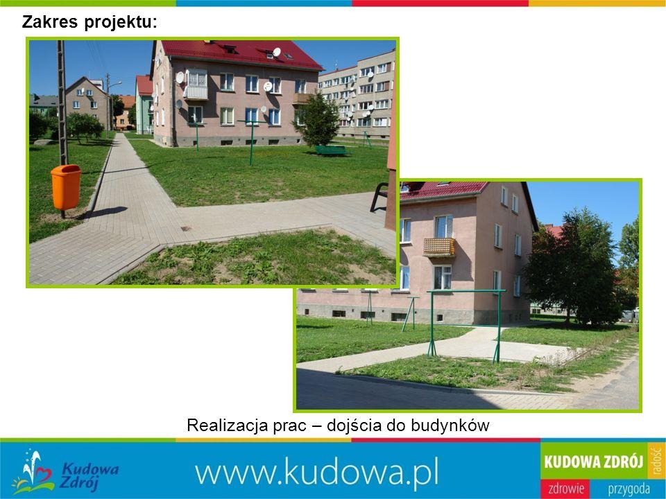 Zakres projektu: Realizacja prac – dojścia do budynków