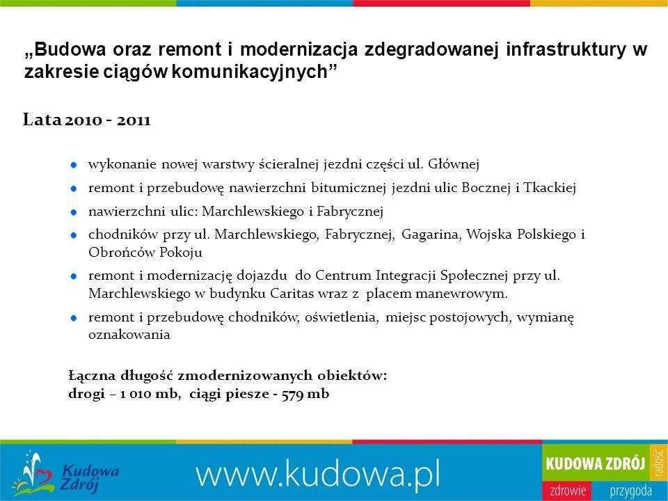 """""""Budowa oraz remont i modernizacja zdegradowanej infrastruktury w zakresie ciągów komunikacyjnych Lata 2010 - 2011 wykonanie nowej warstwy ścieralnej jezdni części ul."""