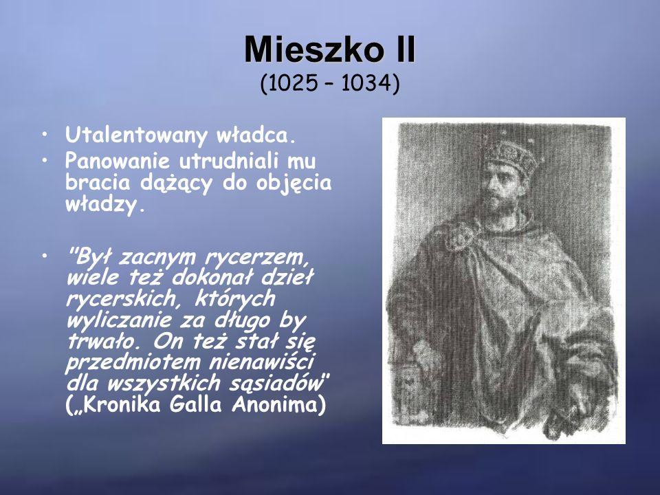 Kazimierz Odnowiciel Kazimierz Odnowiciel (1034 – 1058) Okres jego panowania przypada na czas buntu ludu.