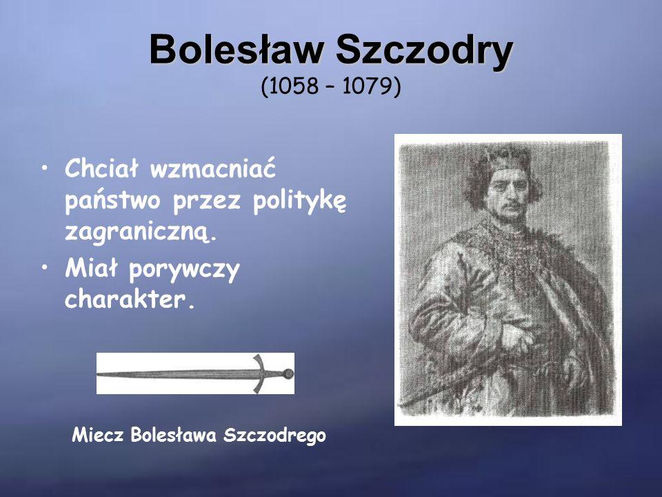 Władysław Herman Władysław Herman (1079 – 1102) Okres jego rządów to czas osłabienia państwa Piastów.