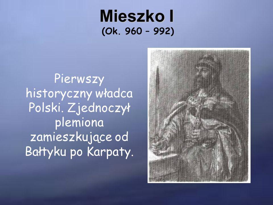 Chrzest Polski W 966 roku Mieszko I przyjął chrzest i włączył swoje państwo do kultury chrześcijańskiej.