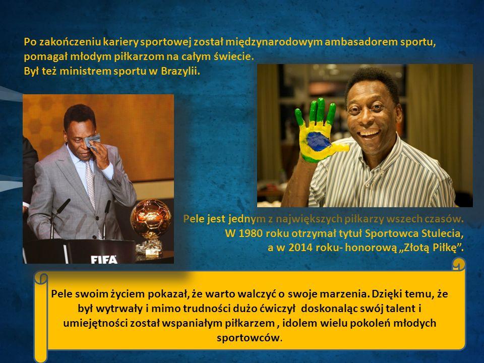 Po zakończeniu kariery sportowej został międzynarodowym ambasadorem sportu, pomagał młodym piłkarzom na całym świecie.
