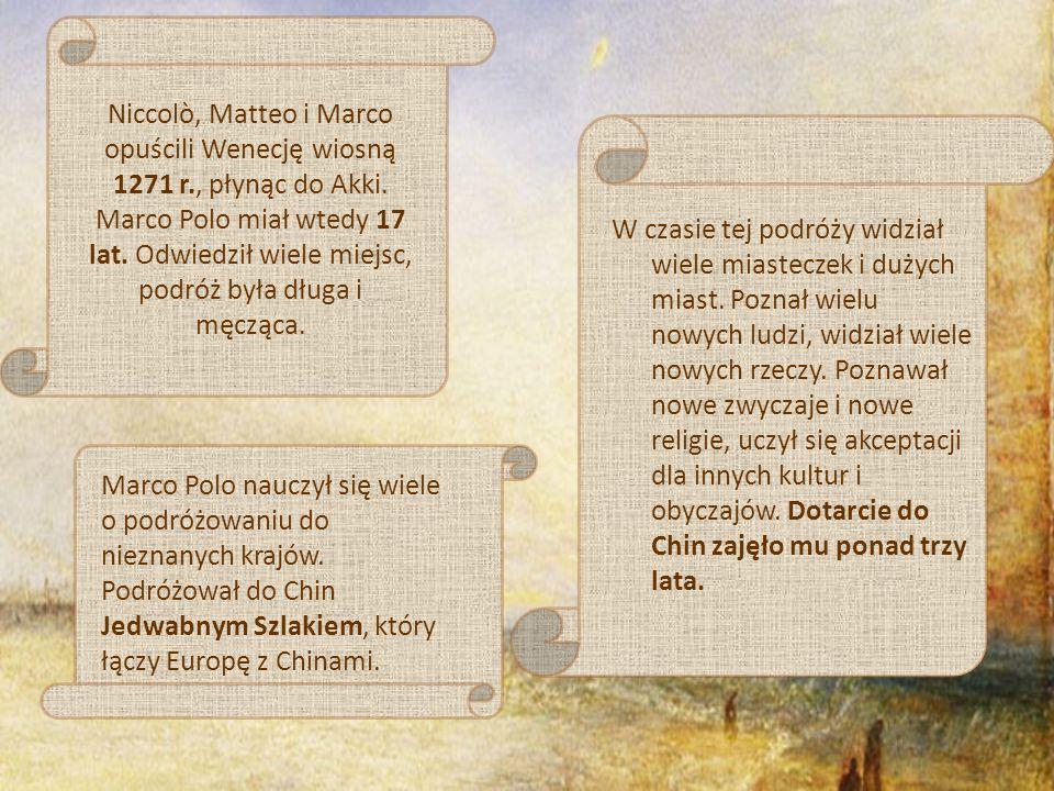Marco Polo zaimponował cesarzowi tak bardzo, że ten uczynił go swoim wysłannikiem i ambasadorem.