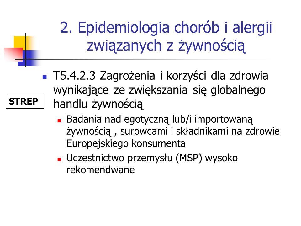 2. Epidemiologia chorób i alergii związanych z żywnością T5.4.2.3 Zagrożenia i korzyści dla zdrowia wynikające ze zwiększania się globalnego handlu ży