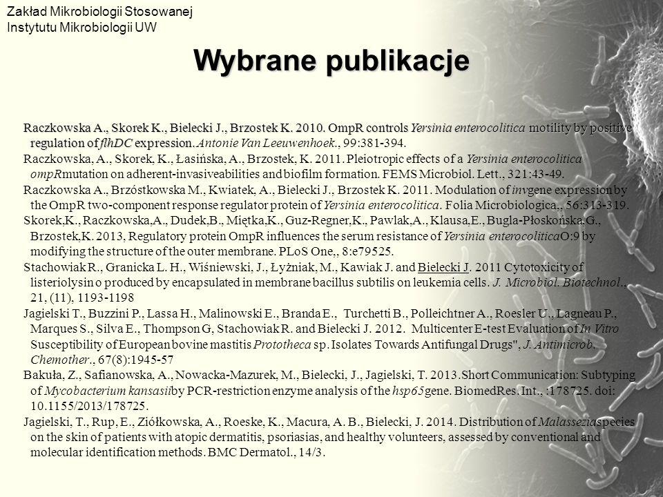 Raczkowska A., Skorek K., Bielecki J., Brzostek K.