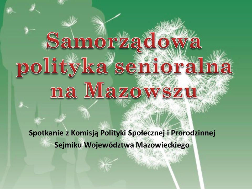 Spotkanie z Komisją Polityki Społecznej i Prorodzinnej Sejmiku Województwa Mazowieckiego