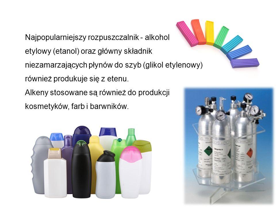 Najpopularniejszy rozpuszczalnik - alkohol etylowy (etanol) oraz główny składnik niezamarzających płynów do szyb (glikol etylenowy) również produkuje