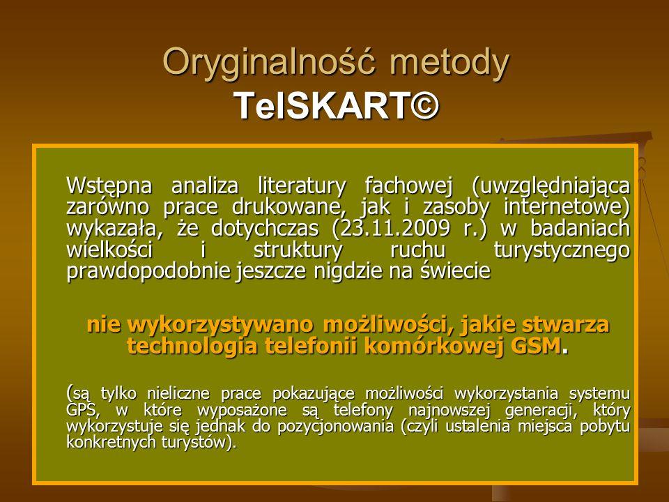 Oryginalność metody TelSKART© Wstępna analiza literatury fachowej (uwzględniająca zarówno prace drukowane, jak i zasoby internetowe) wykazała, że doty