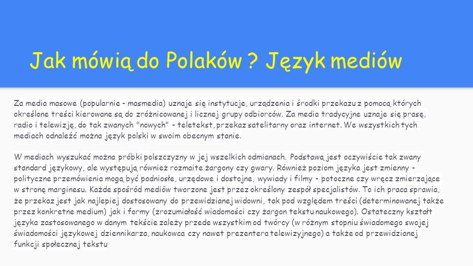 Jak mówią do Polaków .
