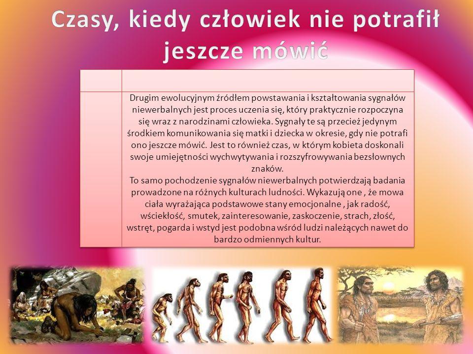 Drugim ewolucyjnym źródłem powstawania i kształtowania sygnałów niewerbalnych jest proces uczenia się, który praktycznie rozpoczyna się wraz z narodzinami człowieka.