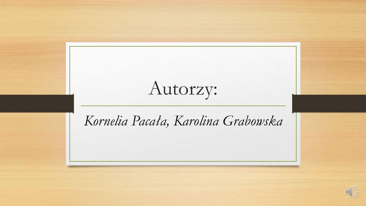 Autorzy: Kornelia Pacała, Karolina Grabowska