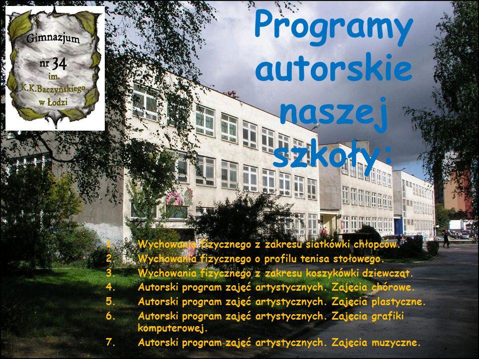 Programy autorskie naszej szkoły: 1.Wychowania fizycznego z zakresu siatkówki chłopców.