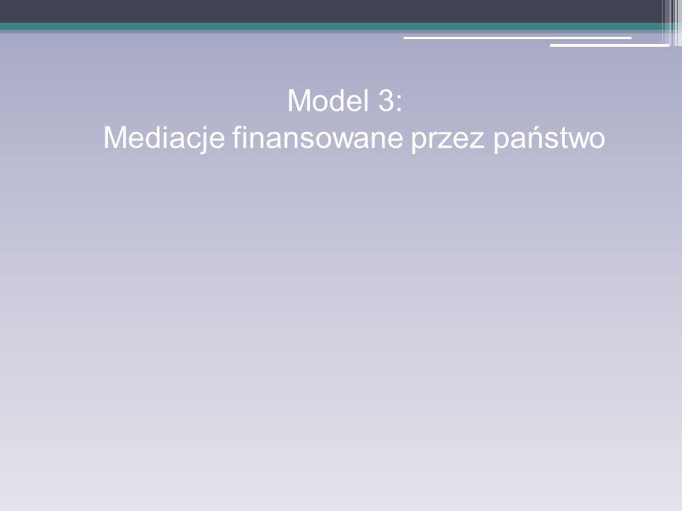 Model 3: Mediacje finansowane przez państwo